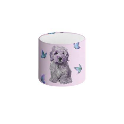 Purple poo Drum Lamp Shade