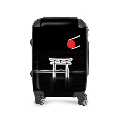 Minimalist Suitcase with Japan Temple motive.