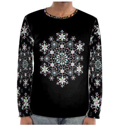 Prismatic Snowflake Long Sleeve Shirt