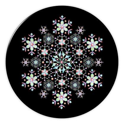 Snowflake Mandala China Plates