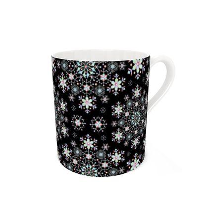 Lacy Snowflakes Bone China Mug
