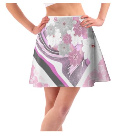 Flared Skirt collage of abstract
