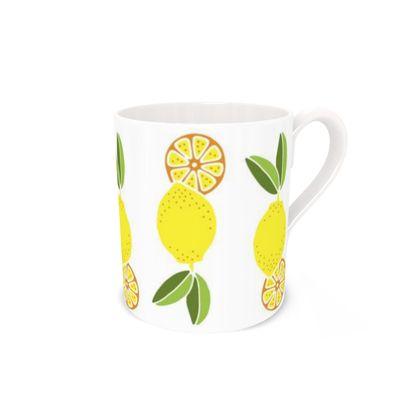 Lemon Bone China Mug