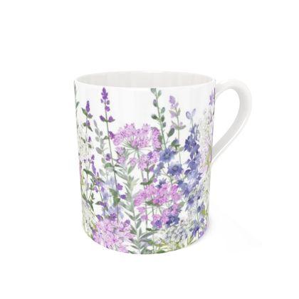 Bone China Mug - Floral Symphony