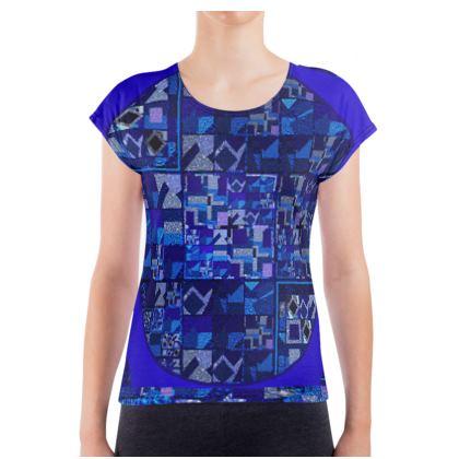 Maglietta in cotone con stampa artistica linea Ricami