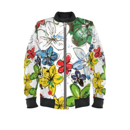 Bomber Jacket, Flowers and Confetti