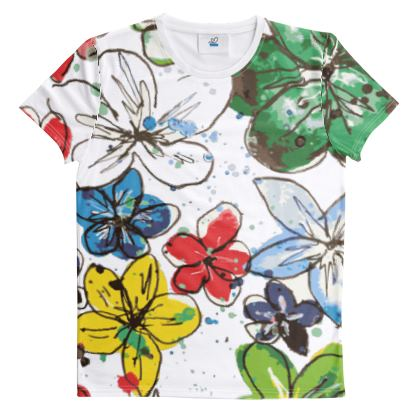T-Shirt, Flowers and Confetti