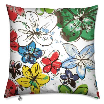 Cushion, Flowers and Confetti
