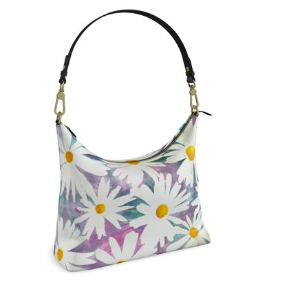 Daisies Square Hobo Bag