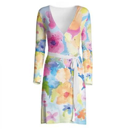 Soft Bloom Wrap Dress