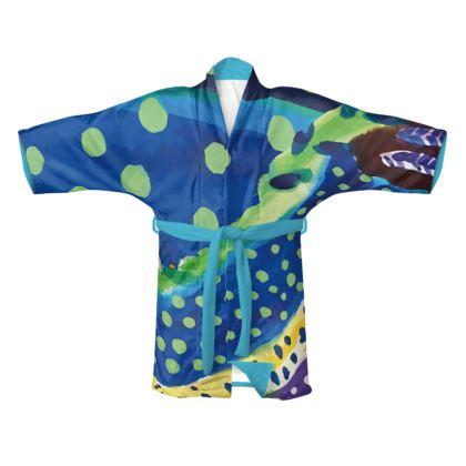 Coral Silk Kimono