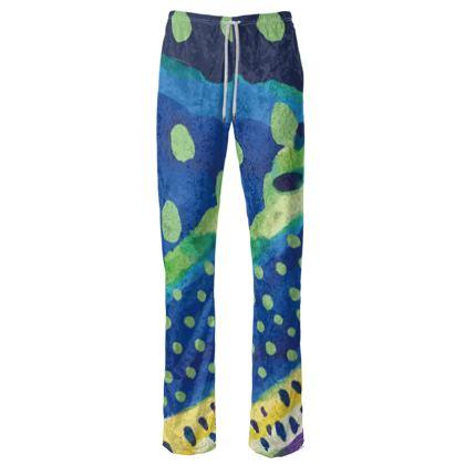 Coral Velvet Trousers