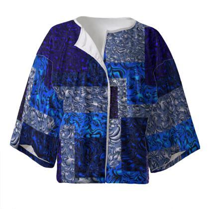 Kimono elegante con bordi linea Ricami