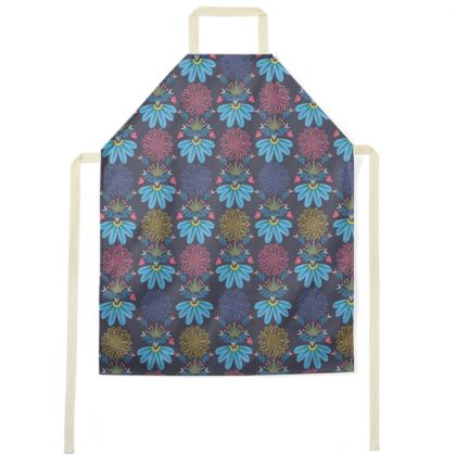 Blue Floral Craft Apron