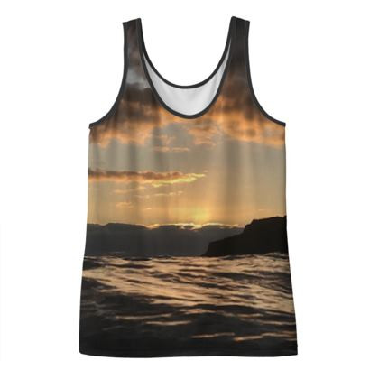Moody morning vest top