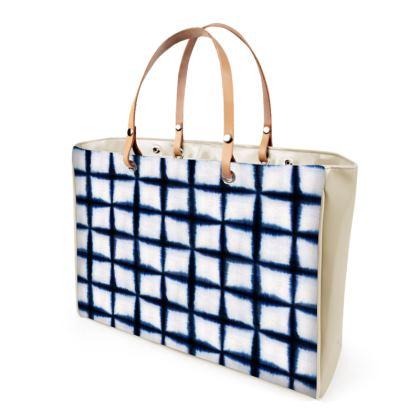 Shibori Squares Handbag