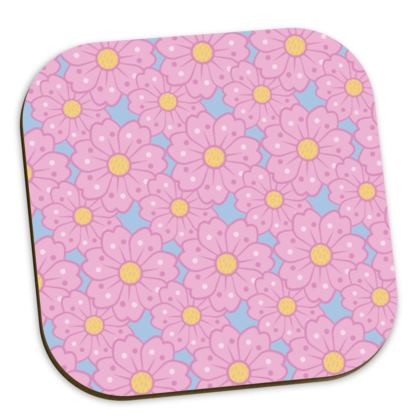 Cherry Blossoms Pattern Coaster