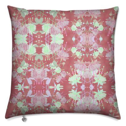 Cushions Cinnamon, [40 cm shown] Floral  Fuchsias  Sassy Cinnamon