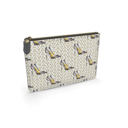 high heels leather pouch