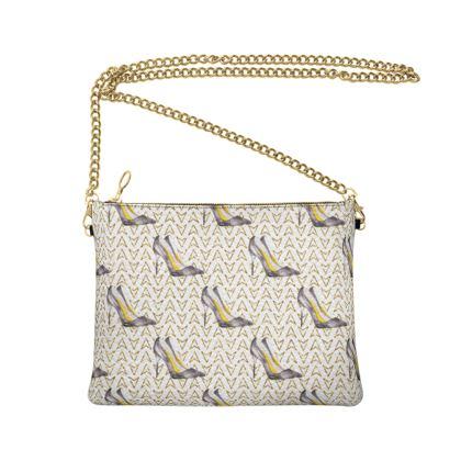 high heels crossbody bag with chain