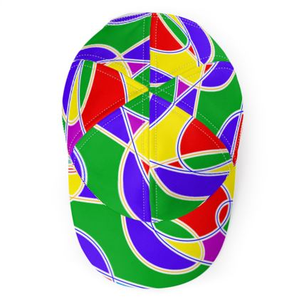 Base Ball Cap - Multi Coloured, with Loopy Lines