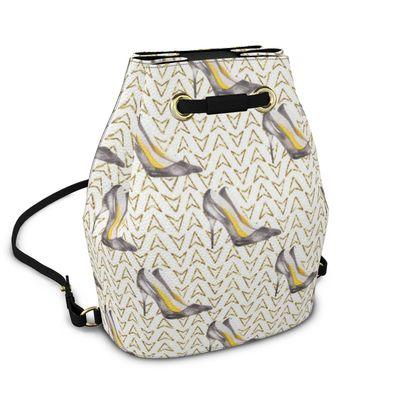 high heels bucket backpack
