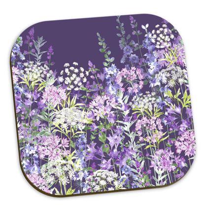 Dusky Floral Symphony Coasters