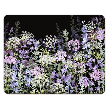 Placemats - Midnight Floral Symphony