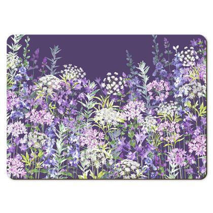 Large Placemats - Dusky Floral Symphony