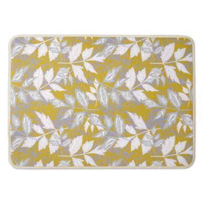 Bath Mat Gold, White  Slipstream  Treasure