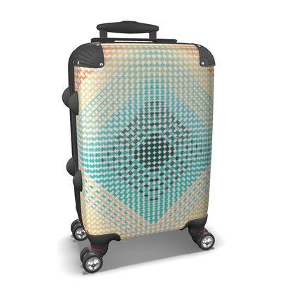 Suitcase Abstract Pattern Punktoj 1 Light Blue