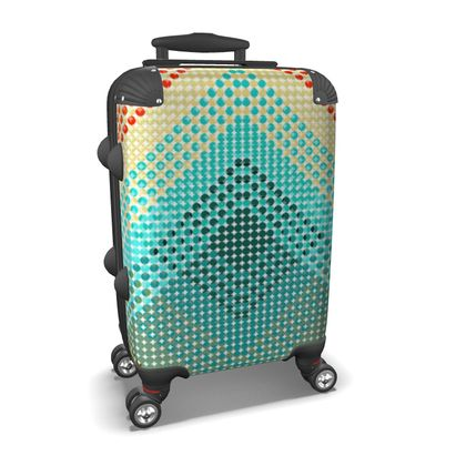 Suitcase Abstract Pattern Punktoj 3 Dark Blue