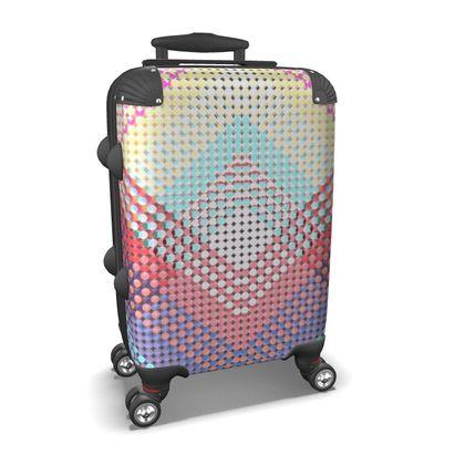 Suitcase Abstract Pattern Punktoj 2 Pink