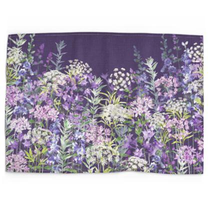 Dusky Floral Symphony Tea Towel