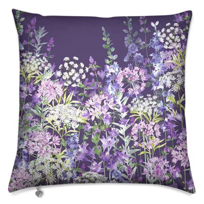 Dusky Floral Symphony Cushion
