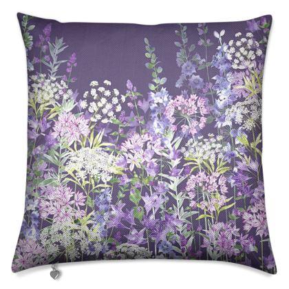 Dusky Floral Symphony Luxury Cushion