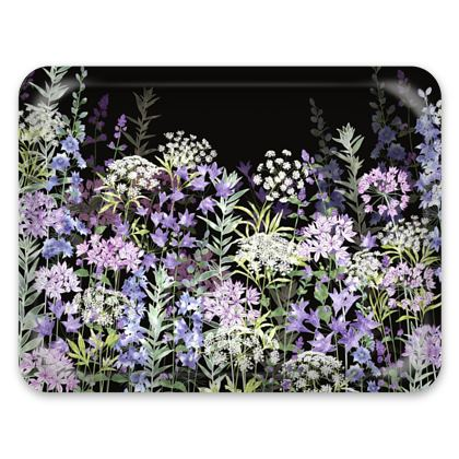 Tray - Midnight Floral Symphony