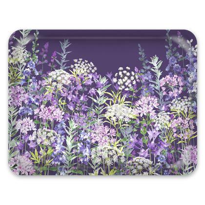 Tray - Dusky Floral Symphony