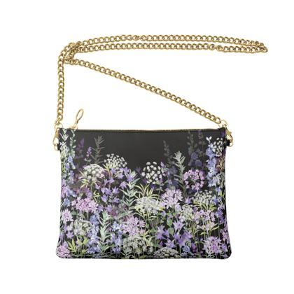 Midnight Floral Symphony Crossbody Bag