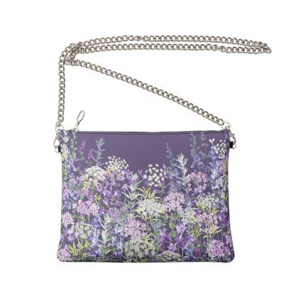 Dusky Floral Symphony Crossbody Bag