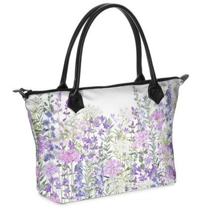Floral Symphony Zip Top Handbag