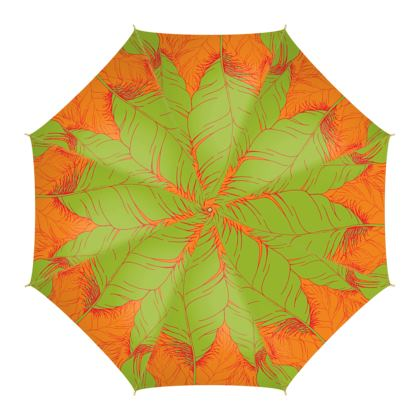 Feather (Tangerine with Lime) - Umbrella