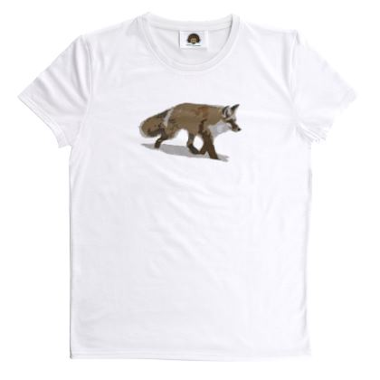 T Shirt - Lonely Fox In The Snow