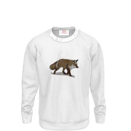 Sweatshirt - Lonely Fox In The Snow