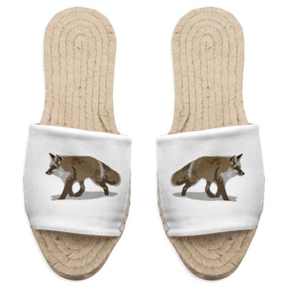Sandal Espadrilles - Lonely Fox In The Snow