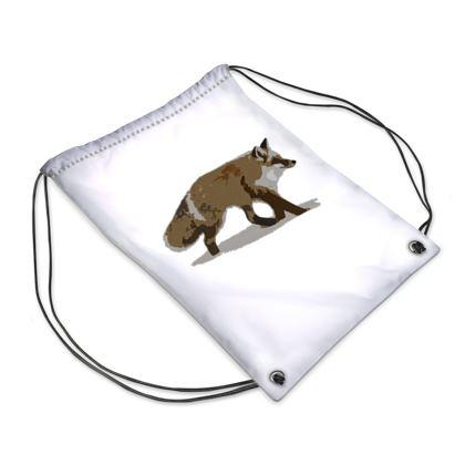 Swim Bag - Lonely Fox In The Snow