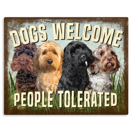 DOGS WELCOME PEOPLE