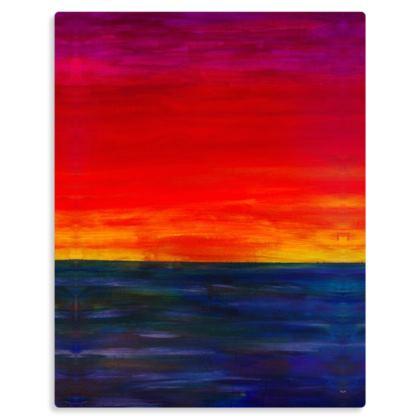 Tropical Sunset Art Print on Metal Panel