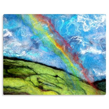 Rainbow Hill Art Print Metal Panel