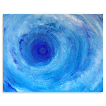 Blue Vortex Premium Art Print on Metal Panel